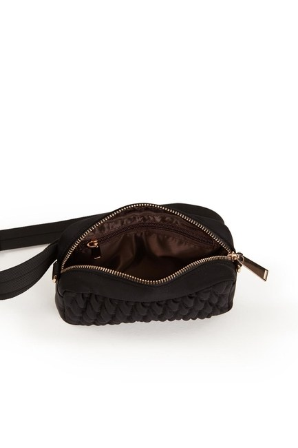 Quilted Shoulder and Waist Bag (Black) - Thumbnail