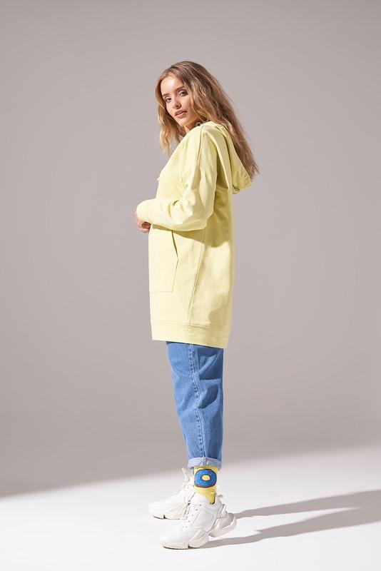 Kapüşonlu Basic Sweatshirt (Fıstık Yeşili)