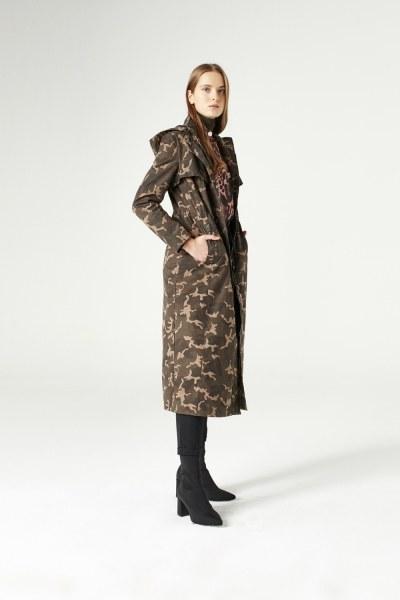 Camouflage Hooded Trenchcoat (Khaki) - Thumbnail
