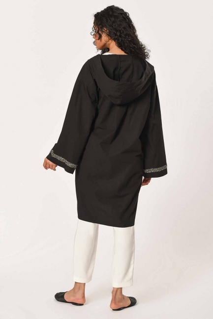 Hooded Tunic Jacket (Black) - Thumbnail