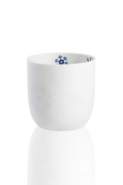 MIZALLE HOME - حامل شمعة السيراميك مع دوافع ندفة الثلج (1)