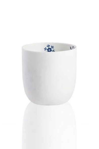 MIZALLE HOME - Ceramic Candle Holder With Snowflake Motives (1)