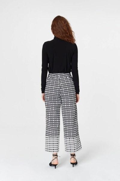 Jacquard Trousers (Black/White) - Thumbnail
