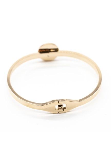 MIZALLE - Snowflake Steel Clamp Bracelet (Yellow) (1)