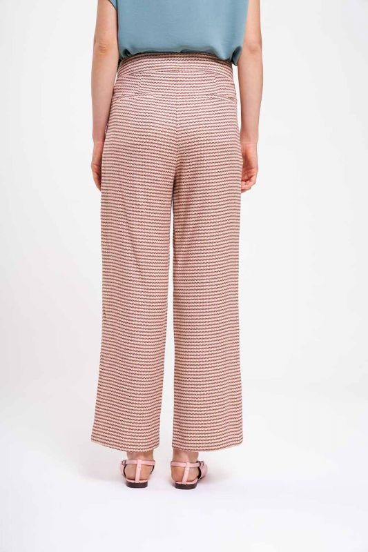 Kazayağı Desenli Pantolon (Bej)
