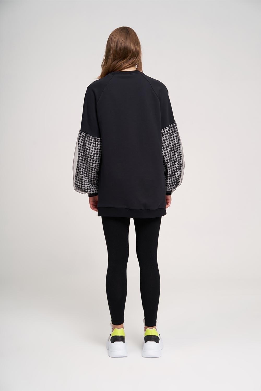 Kazayağı Sweatshirt (Beyaz)
