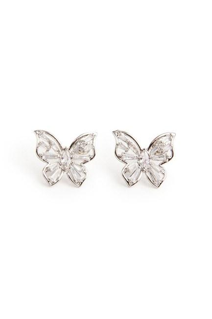 Kelebek Küpe (Gri) - Thumbnail