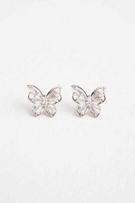 Kelebek Küpe (Silver) - Thumbnail