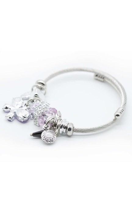 MIZALLE - Butterfly Bracelet (Lilac) (1)