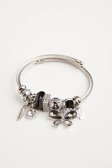 MIZALLE - Butterfly Bracelet (Black) (1)