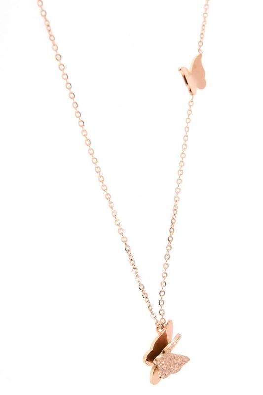 Butterfly Steel Necklace (St)