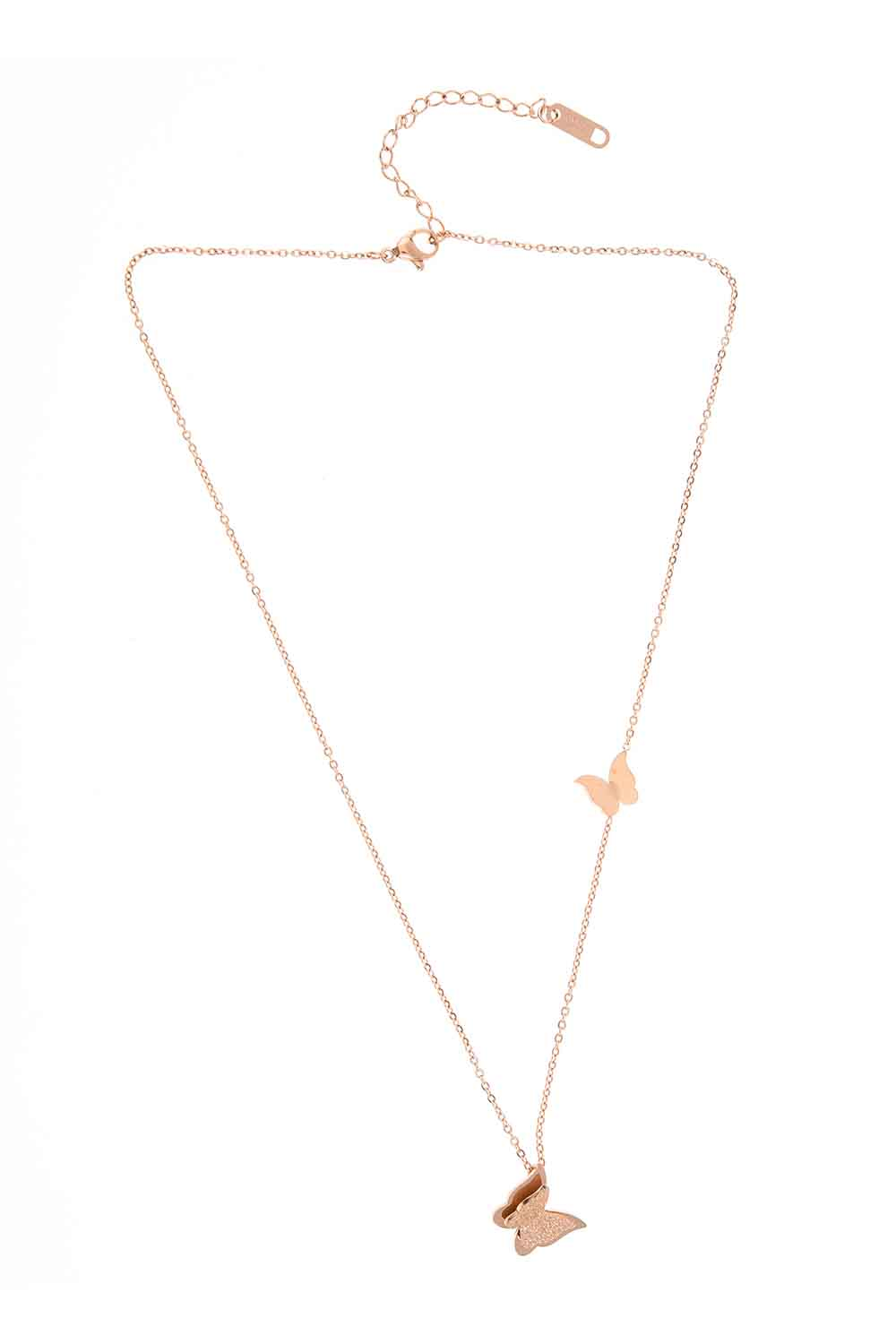 MIZALLE Butterfly Steel Necklace (St) (1)