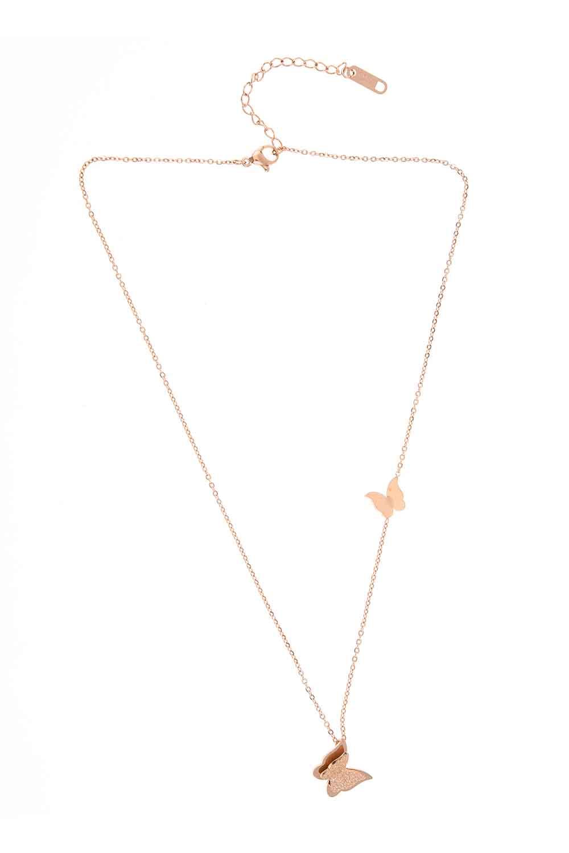 MIZALLE Butterfly Steel Necklace (St) (1)