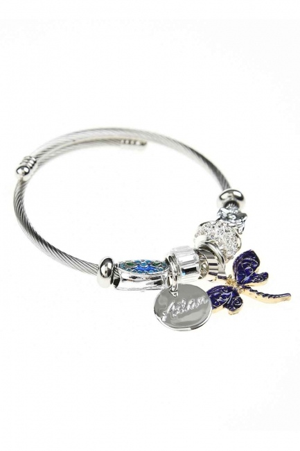 MIZALLE - Butterfly Bracelet (Purple) (1)