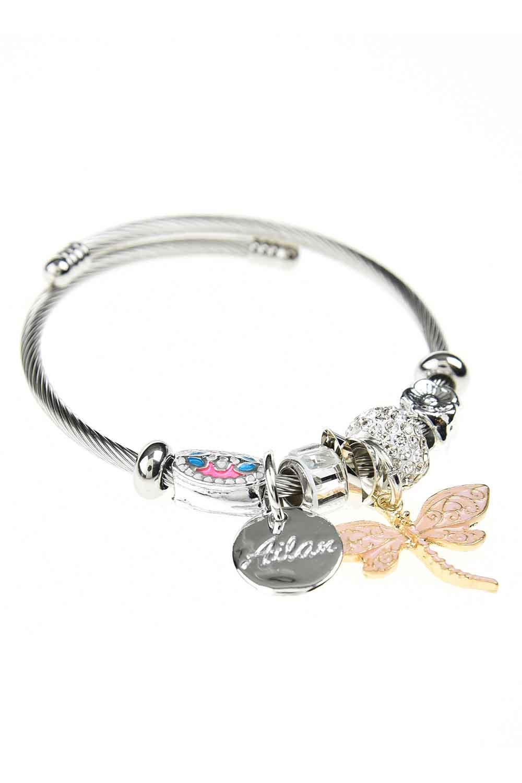 MIZALLE Butterfly Bracelet (Pink) (1)