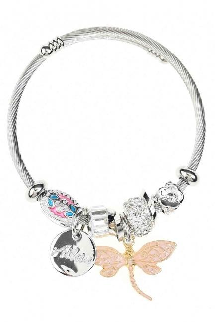 MIZALLE Butterfly Bracelet (Pink)