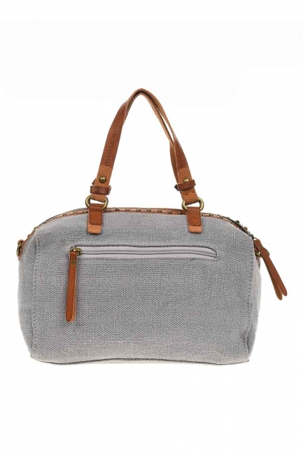 Linen Arm Bag (Grey) - Thumbnail