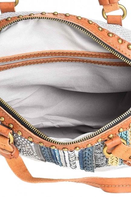 Keten Pullu Kol Çantası (Gri) - Thumbnail