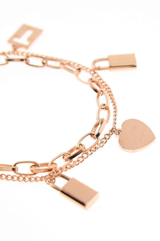 MIZALLE Lock Steel Bracelet (St) (1)