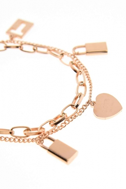 MIZALLE - Lock Steel Bracelet (St) (1)