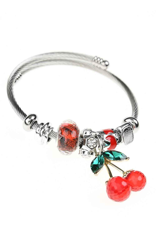 MIZALLE Cherry Shaped Bracelet (Red) (1)