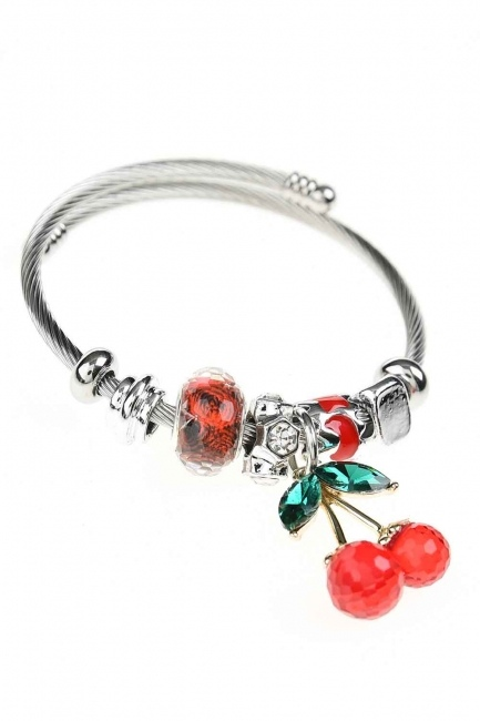 MIZALLE - Cherry Shaped Bracelet (Red) (1)
