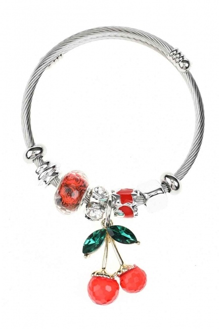 MIZALLE Cherry Shaped Bracelet (Red)