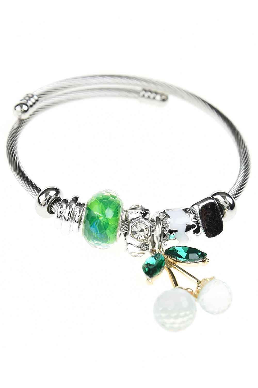 MIZALLE Cherry Shaped Bracelet (Green) (1)