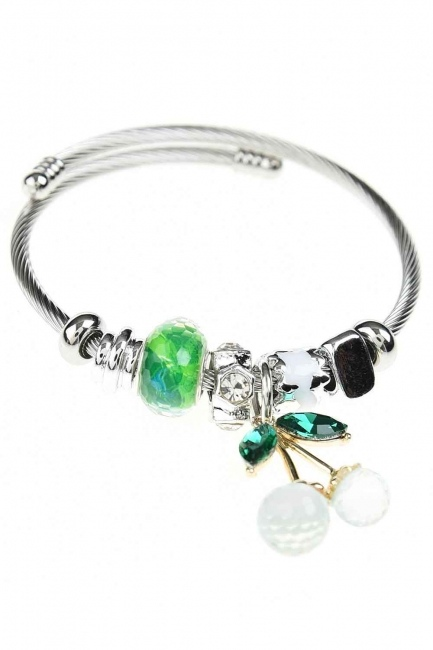 MIZALLE - Cherry Shaped Bracelet (Green) (1)