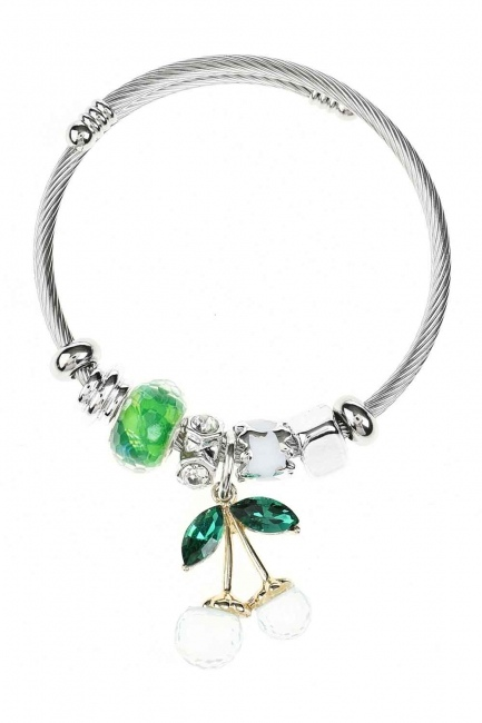 MIZALLE Cherry Shaped Bracelet (Green)