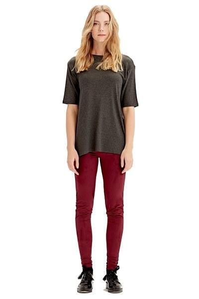 MIZALLE Kısa Kollu T-Shirt (Füme)