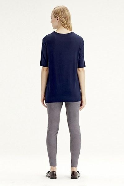 Kısa Kollu T-Shirt (Lacivert) - Thumbnail