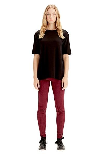 MIZALLE Short-Sleeved T-Shirt (Black)