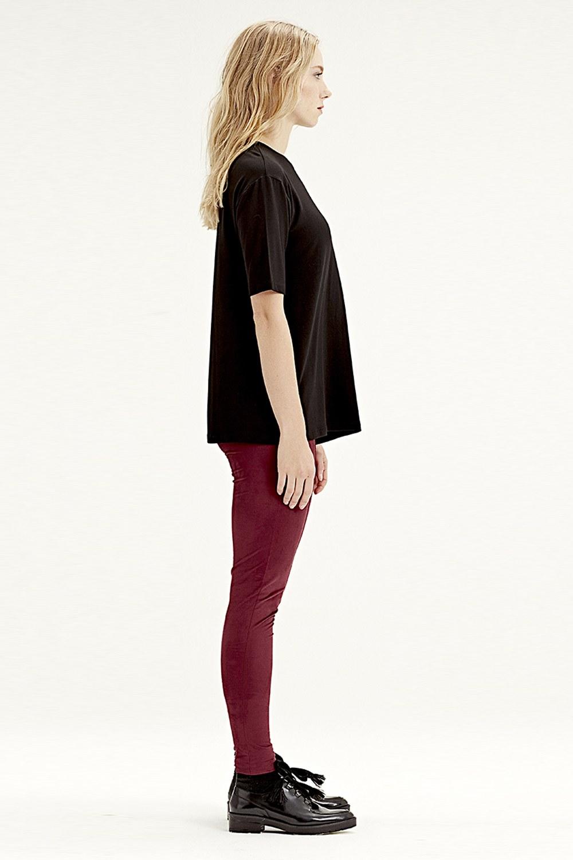 MIZALLE Kısa Kollu T-Shirt (Siyah) (1)