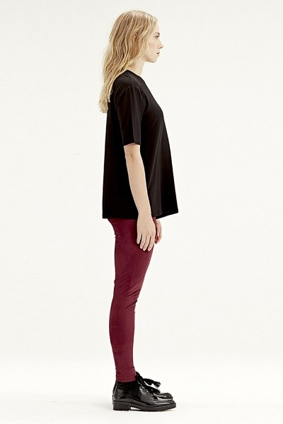 MIZALLE - Kısa Kollu T-Shirt (Siyah) (1)