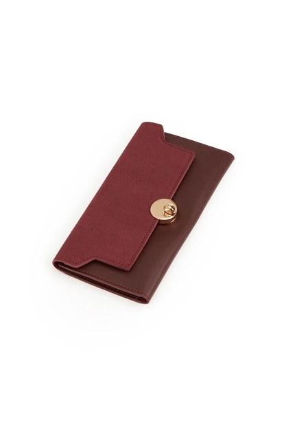MIZALLE Classic Wallet (Claret Red)
