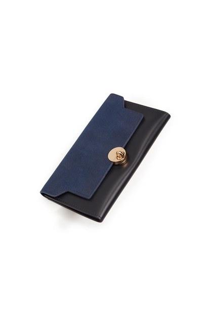 MIZALLE Classic Wallet (Navy Blue)