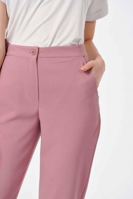 Klasik Dar Paça Pantolon (Gül Kurusu) - Thumbnail
