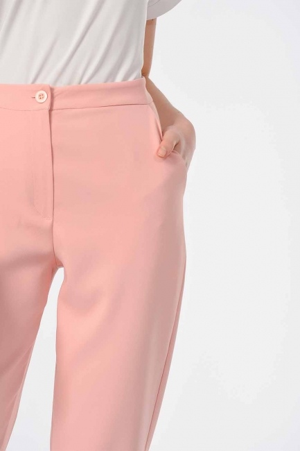 Klasik Dar Paça Pantolon (Pudra) - Thumbnail