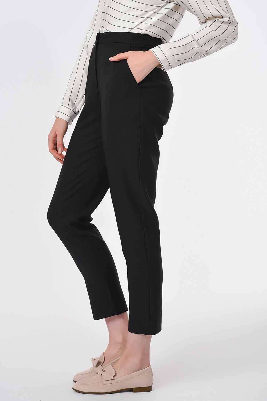 Klasik Dar Paça Pantolon (Siyah)
