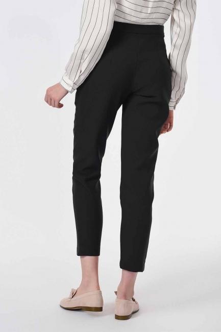 Klasik Dar Paça Pantolon (Siyah) - Thumbnail