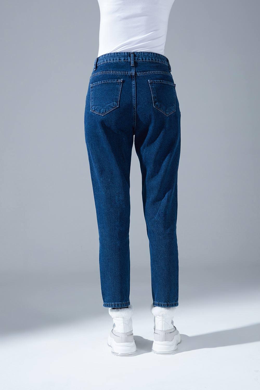 Klasik Mom Denim Pantolon (İndigo)