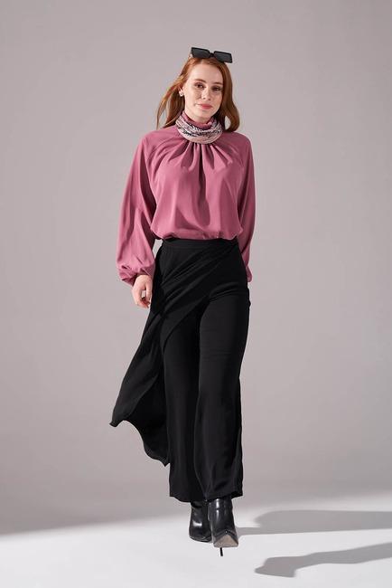Mizalle - Klasik Pantolon Etek (Siyah)