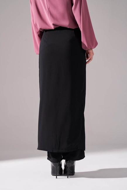 Klasik Pantolon Etek (Siyah) - Thumbnail