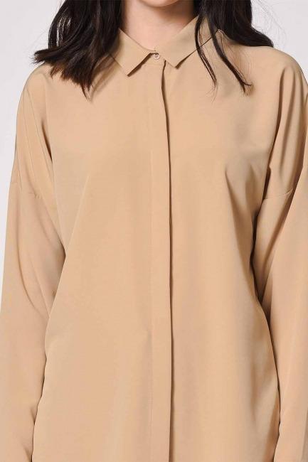 قميص كاجوال كلاسيكي (بيج) - Thumbnail