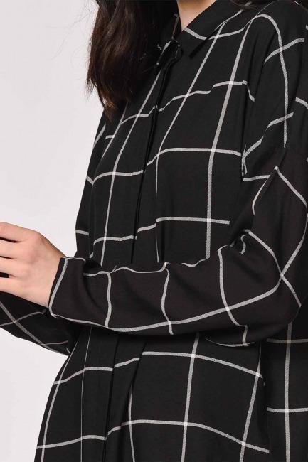 قميص كاجوال كلاسيك (أسود) - Thumbnail