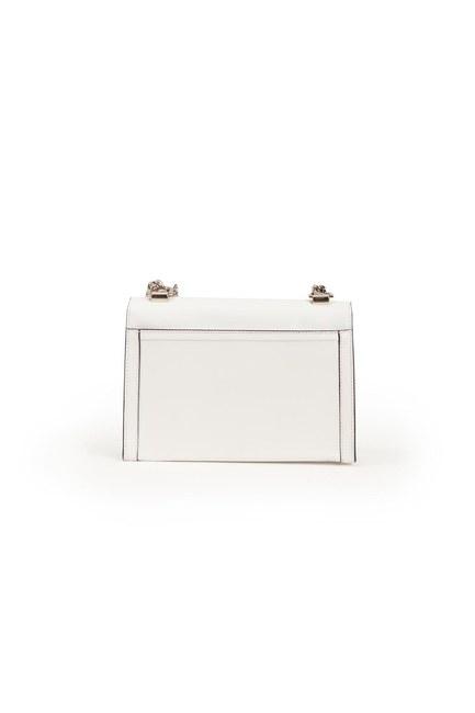 حقيبة كتف جلدية (أبيض) - Thumbnail