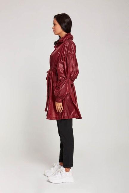 معطف واق من المطر بالون (كلاريت أحمر) - Thumbnail