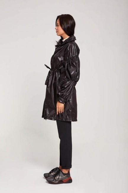 معطف واق من المطر بالون (أسود) - Thumbnail