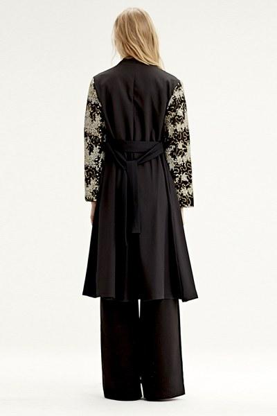 Kolu İşlemeli Kimono (Siyah) - Thumbnail